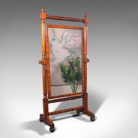 Grand Antique Cheval Mirror, English, Dressing, Country House, Victorian c.1880