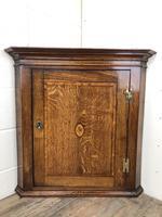 Antique Georgian Oak Hanging Corner Cupboard (8 of 12)