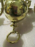 A Dutch Style 6 Branch Brass Ball Chandelier (4 of 4)