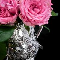 Georgian Solid Silver Loving Cup / Two Handled Cup - London 1748 (13 of 28)