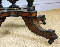 Outstanding Aesthetic Ebonised Birds Eye Maple & Gilt Bronze Table (7 of 10)