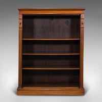 Antique Set Of Bookshelves, English, Walnut, Open Bookcase, Victorian, C.1880 (2 of 10)