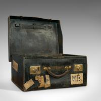 Antique Travel Case, Leather, Salesman's Suitcase, JW Allen, Strand, Edwardian (7 of 12)