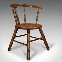 Small Antique Windsor Chair, English, Oak, Apprentice, High Wycombe, Victorian