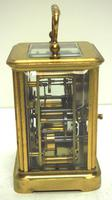 Good Antique French 8-day Carriage Clock Bevelled Case with Bell Alarm Feature (6 of 13)