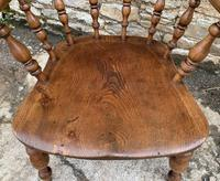 Antique Elm Captains Chair Smokers Bow (12 of 13)