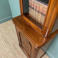 Tall Slim Victorian Mahogany Antique Bookcase on Cupboard (2 of 10)