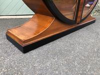 Art Deco Walnut & Ebonised Round Display Cabinet (5 of 11)