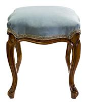 Victorian Walnut Stool on Cabriole Legs (3 of 5)