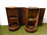 Pair of Mahogany Cylinder Bedside Cabinets (5 of 7)