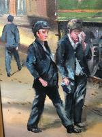 Oil Painting Railway Train Engine Princess Margaret 4056 With Figures Signed Ken Allsebrook (7 of 13)