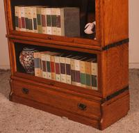Globe Wernicke Oak Bookcase of Three Elements (7 of 12)