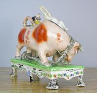 Rare Bull Baiting Staffordshire Figure Obadiah Sherratt (5 of 11)
