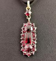 Antique Art Nouveau Bohemian Garnet Pendant (4 of 12)
