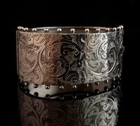 Victorian silver cuff bangle, Aesthetic (4 of 15)