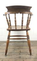 Antique Beech and Elm Smoker's Bow Armchair (11 of 16)