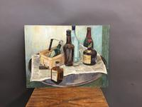 oil on board -  still life with bottles (4 of 4)