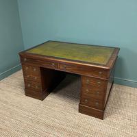 Large Victorian Mahogany Antique Partners Desk (7 of 10)