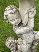 Large' Victorian Style' 3 Cherubs Stone Sundial Fairy Brass Top Timepiece (12 of 29)