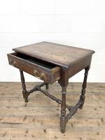 18th Century Antique Oak Side Table with Drawer (9 of 10)