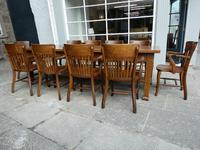 10 1920's Solid Oak Chairs (7 of 7)