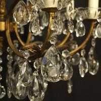 Italian Gilded 12 Light Double Tiered Antique Chandelier (9 of 10)