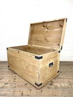 Antique Large Rustic Pine Trunk (9 of 10)
