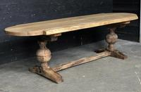 19th Century Rustic Oak Farmhouse Dining Table (21 of 23)