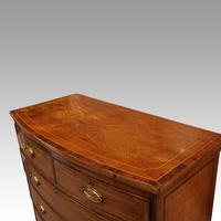 Regency Inlaid Bow Fronted Chest (8 of 10)