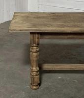 Nice Large Bleached Oak Farmhouse Dining Table With Extensions (17 of 35)