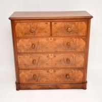 Antique Victorian Burr Walnut Chest of Drawers (11 of 11)