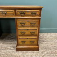 Victorian Walnut Antique Pedestal Desk (8 of 8)