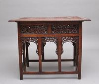 19th Century Carved Indian Occasional Table (2 of 9)