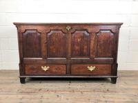 18th Century Welsh Oak Coffer with Panel Front (10 of 19)
