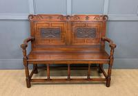 Late 19th Century Carved Oak Bench (2 of 12)