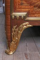 Spectacular and Beautiful Fruitwood Inlay Rococo King Size Bed (6 of 10)
