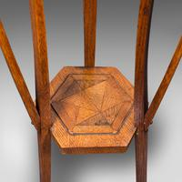 Antique Plant Stand, English, Oak, Jardiniere, Liberty-esque, Arts and Crafts (11 of 12)