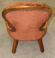 1910s Mahogany Mummy Armchair in Rust Upholstery (3 of 3)