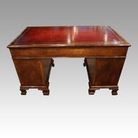 Walnut Pedestal Desk by Waring and Gillow (4 of 18)