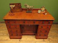 Victorian Antique Pedestal Desk, Hobbs & Co London (24 of 24)
