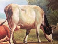 Fine Art English Oil Painting Cattle Cows & Sheep After Thomas Sidney Cooper (25 of 33)