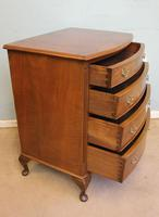 Small Burr Walnut Bow Front Chest Drawers (4 of 7)