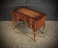 Queen Anne Style Serpentine Walnut Writing Desk (13 of 17)