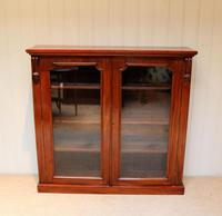 Late 19th Century Glazed Two Door Bookcase (6 of 7)