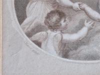 Francesco Bartolozzi 1791 Print after John Howes, 18th Century Colour Impression, Period Frame (5 of 6)