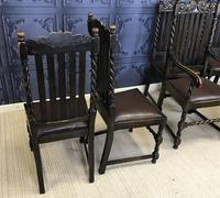 Set of Six Oak Dining Chairs (10 of 11)