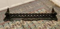 Decorative Victorian Cast Iron Fender (6 of 8)