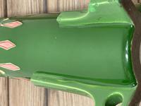 Original Art Nouveau Eichwald Pottery Green Glazed Rocket Flower Vase (19 of 23)