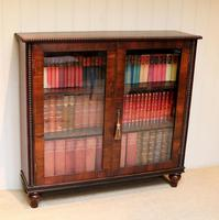 Victorian Rosewood Glazed Bookcase (2 of 10)