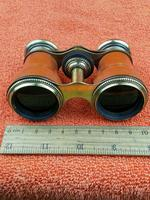 Antique Opera Glasses, Brass & Brown c.1920 (10 of 11)